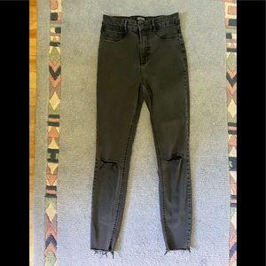 Zara Trafuluc Dark Charcoal Wash Skinny Jeans